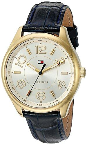 Tommy Hilfiger Damen Quarz Sound und vergoldet Casual Armbanduhr Modell 1781675