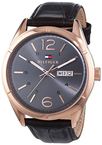 Tommy Hilfiger Watches XL CHARLIE Analog Quarz Leder 1791058