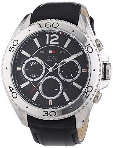 Tommy Hilfiger Watches XL GRANT Analog Quarz Leder 1791029