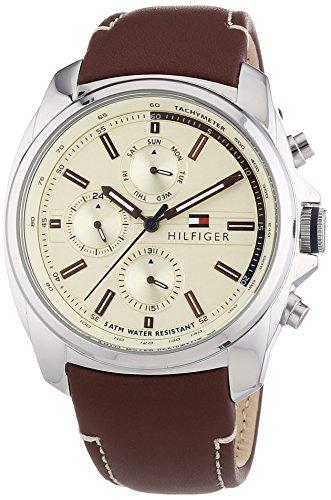 Tommy Hilfiger Watches XL PRESTON Analog Quarz Leder 1791079