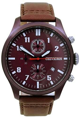 Chevignon Herren-Armbanduhr Analog Quarz Leder 92-0064-501