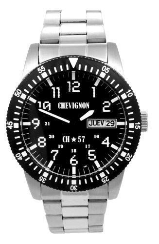 Chevignon Herren Armbanduhr Analog Quarz Edelstahl 92 0060 501