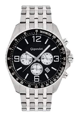 Gigandet Fast Track Herren Armbanduhr Silber Schwarz G12-007