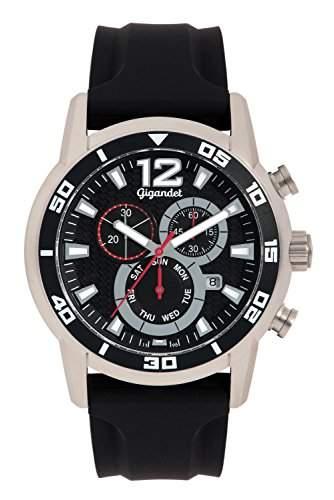 Gigandet SPEEDBIKE Herren Armbanduhr Chronograph Analog Quarz Schwarz G14-002