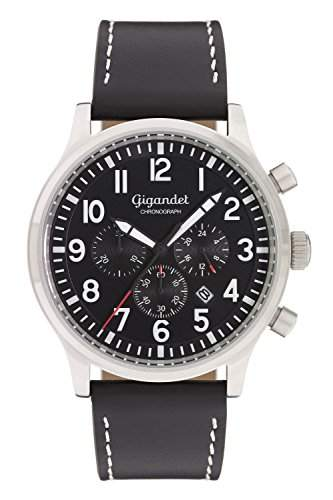 Gigandet Destination Herren Armbanduhr Chronograph Analog Quarz Schwarz G15-001