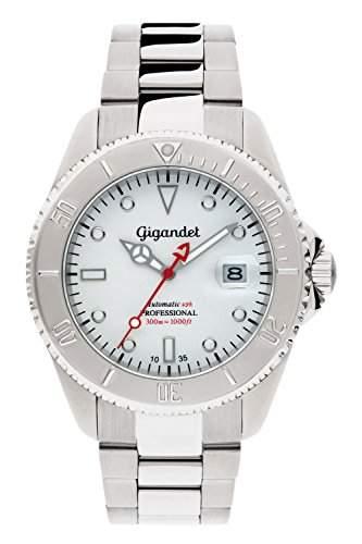 Gigandet Automatik Herren-Armbanduhr Sea Ground Taucheruhr Uhr Datum Analog Edelstahlarmband Silber G2-015