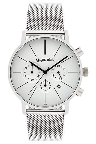 "Gigandet Herren-Armbanduhr ""Minimalism"" Edelstahlarmband Silber G32-005"