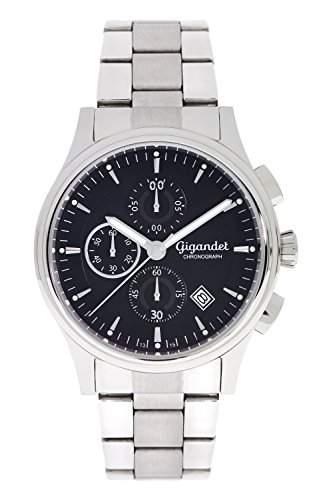 Gigandet Traveller Herren Armbanduhr Chronograph Analog Quarz Schwarz G44-001