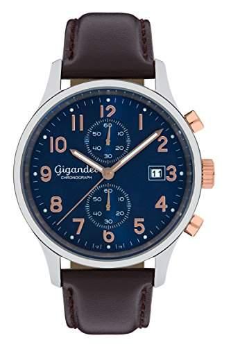 Gigandet SKYSCRAPER Herren Armbanduhr Chronograph Analog Quarz Blau Braun G49-001