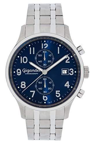 Gigandet SKYSCRAPER Herren Armbanduhr Chronograph Analog Quarz Blau Silber G49-004