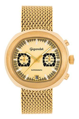 Gigandet Supergraph Herren Chronograph Analog Datum Gold G11 004