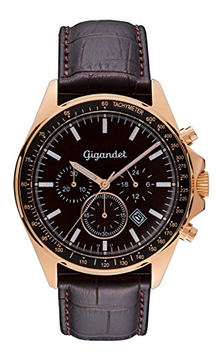 Gigandet VOLANTE Chronograph Analog Quarz Rotgold Braun G3 004