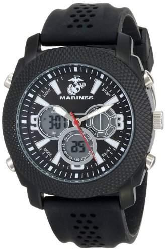 Wrist Armor Herren 37100003 C21 Analog-Digital Display Quartz Armbanduhr with Black Silicone Strap