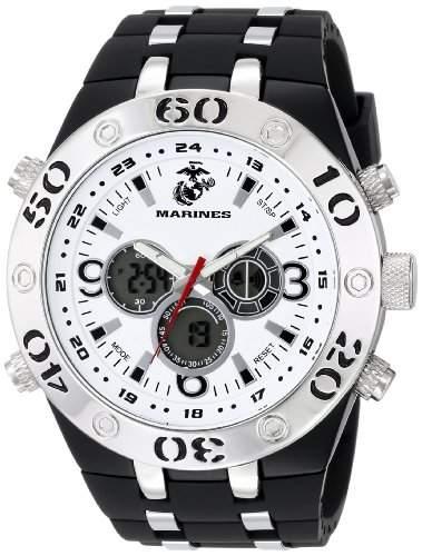 Wrist Armor Herren 37100008 C23 Analog-Digital Display Quartz Armbanduhr with Black Rubber Strap