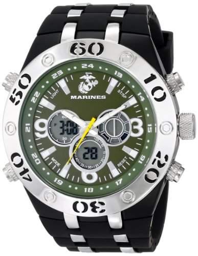 Wrist Armor Herren 37100010 C23 Analog-Digital Display Quartz Armbanduhr with Black Rubber Strap