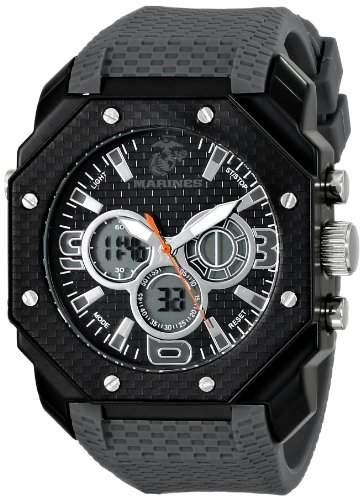 Wrist Armor Herren 37100012 C28 Analog-Digital Display Quartz Armbanduhr with Grey Silicone Strap
