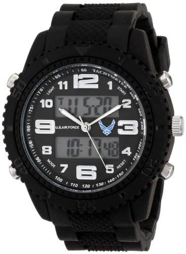 Wrist Armor Herren 37300005 C27 Analog-Digital Display Quartz Armbanduhr with Black Rubber Strap