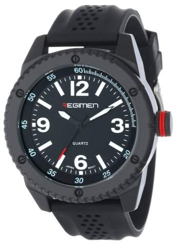 Wrist Armor Herren RW1022 Black Analog Armbanduhr with Black Dial and White Markings
