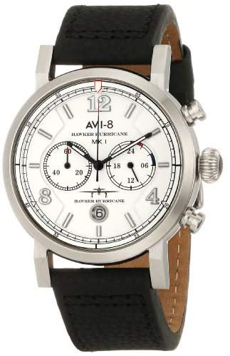 AVI-8 Herren AV-4015-01 Hawker Hurricane Analog Japanese-Quartz Black Armbanduhr