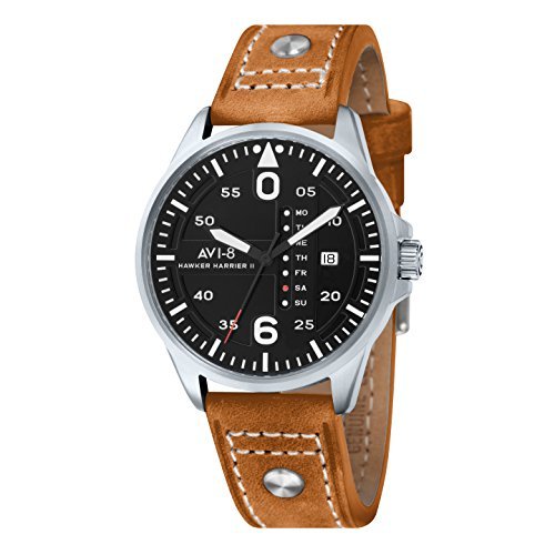 AVI 8 Herren Armbanduhr Hawker Harrier II Analog Quarz AV 4003 02