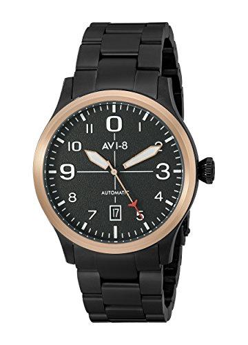 avi 8 Herren av 4021 14 Flyboy Analog Display Japanische Automatische schwarz Armbanduhr