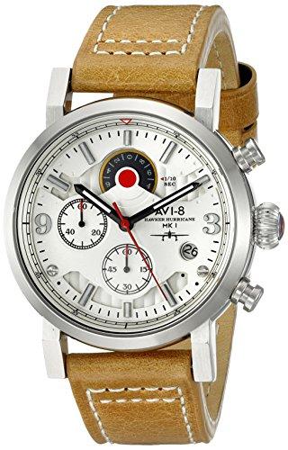 avi 8 Herren av 4041 01 Hawker Hurricane Japanisches Quarz braun Armbanduhr