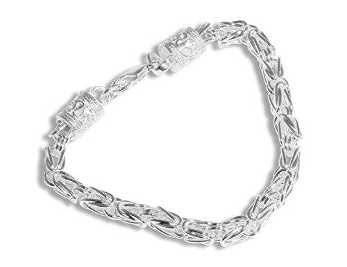 Enez Armband Armkette 925 Sterling Silber plattiert Schmuck 20 cm D096b