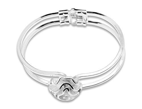 Enez Armband Armreifen 925 Sterling Silber plattiert Schmuck 6 cm D012b