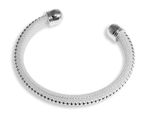 Enez Armband Armreifen 925 Sterling Silber plattiert 6 5 cm D021a