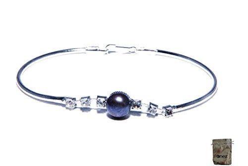 Enez Armband Armkette Armreifen mit Echter Suesswasser Zucht Perle 18cm Geschenkbeutel R1270