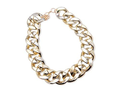 Enez XXL Damen Kette Halskette Blogger Necklace Choker B 3 5cm L 50cm R551b