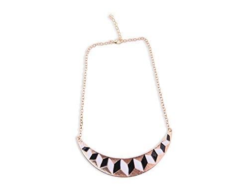 Enez XXL Damen Kette Halskette Blogger Necklace Choker Collier Retro 50cm R538b