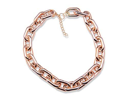 Enez XXL Damen Kette Halskette Blogger Necklace Choker Collier B 2cm L 50cm R523a