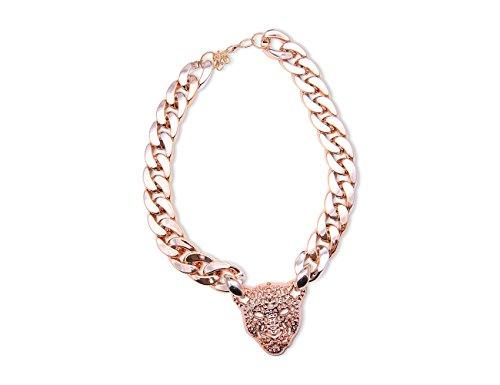 Enez XXL Damen Kette Halskette Blogger Necklace Choker Collier B 2cm L 50cm R542b