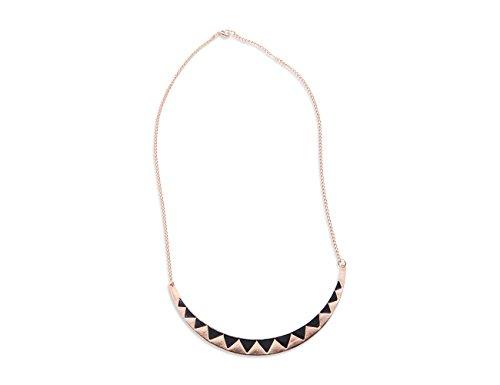 Enez XXL Damen Kette Halskette Blogger Necklace Spike Choker Collier Retro 55cm R596b