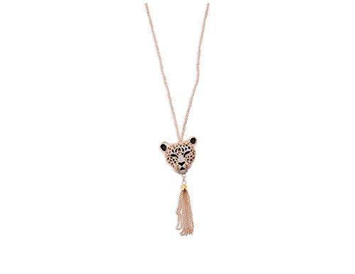 Enez XXL Damen Kette Halskette Blogger Necklace Spike Choker Collier Retro 70cm R610a