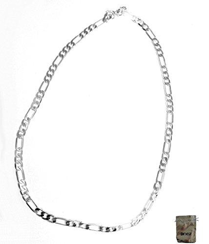 Original Enez Edle Halskette Panzerkette 925 Silber Plattiert 460 x 5 5mm R1190 Geschenkbeutel