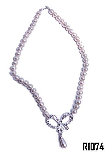 Enez Halskette Collier Perlenkette Hochzeitsschmuck Wedding Brautschmuck 45cm R1074z
