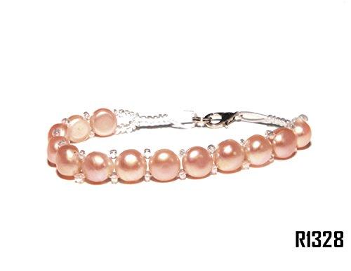 Enez Echt Suesswasser Zucht Perlenkette Armband Armkette Armreifen 18cm R1328