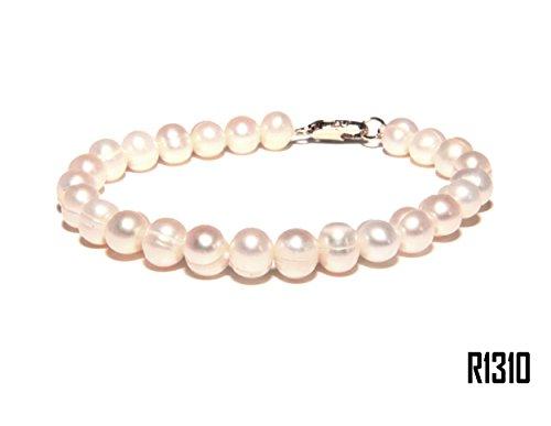 Enez Echt Suesswasser Zucht Perlenkette Armband Armkette Armreifen 18cm R1310