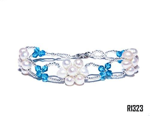 Enez Echt Suesswasser Zucht Perlenkette Armband Armkette Armreifen 18cm R1323