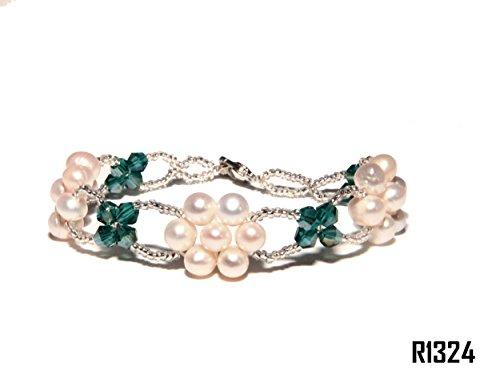 Enez Echt Suesswasser Zucht Perlenkette Armband Armkette Armreifen 18cm R1324