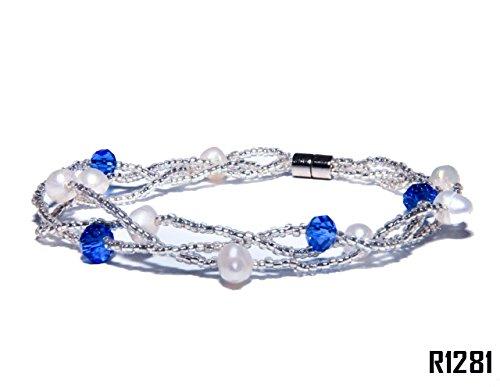 Enez Echt Suesswasser Zucht Perlenkette Armkette 18cm Magnetverschluss R1281