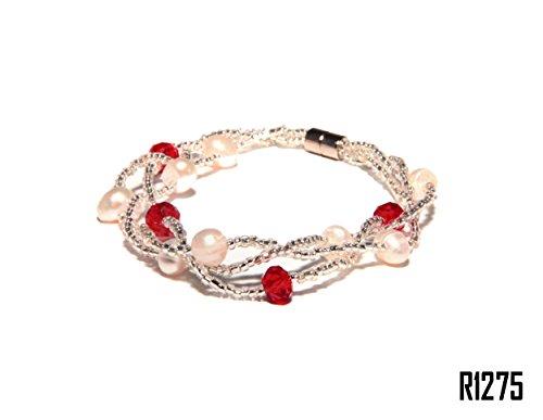 Enez Echt Suesswasser Zucht Perlenkette Armband Armkette 18cm Magnetverschluss R1275