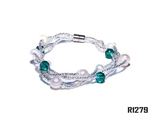 Enez Echt Suesswasser Zucht Perlenkette Armband Armkette 18cm Magnetverschluss R1279