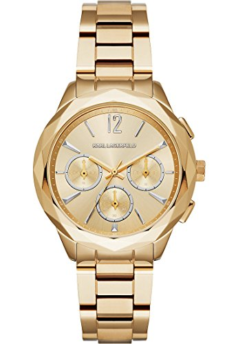 Karl Lagerfeld Analog Quarz One Size perlmutt gold
