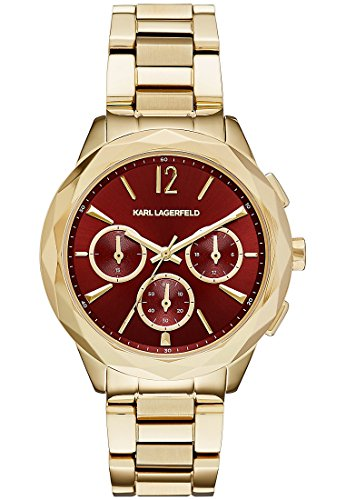 Karl Lagerfeld Analog Quarz One Size rot gold
