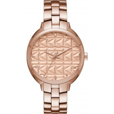 Karl Lagerfeld Damen Armbanduhr Analog Quarz One Size rose rose