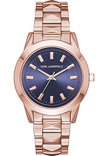 Karl Lagerfeld Damen Armbanduhr Analog Quarz One Size blau rose blau