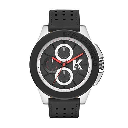 Karl Lagerfeld Herren-Armbanduhr XL Chronograph Quarz Leder KL1412
